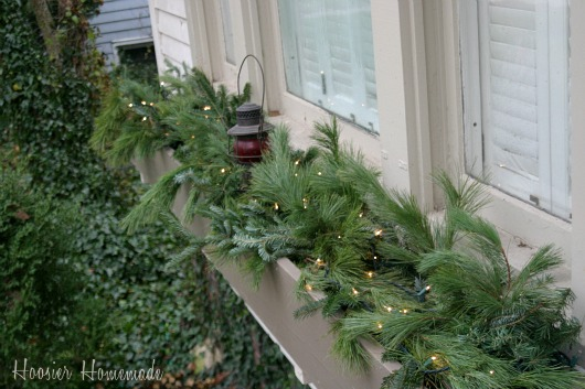outdoor christmas decorations hoosier homemade - Window Box Christmas Decorations