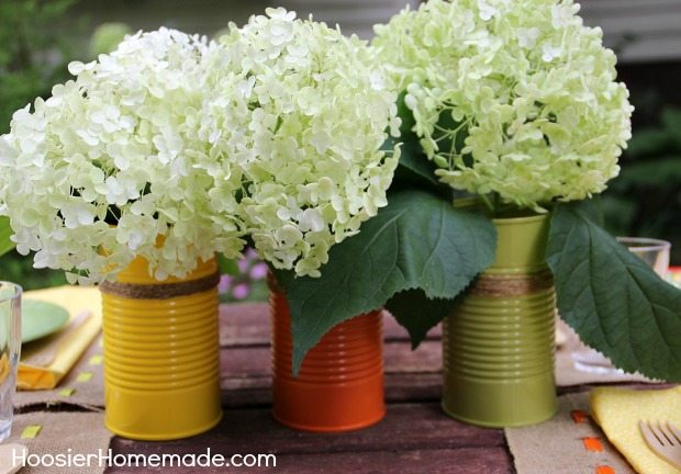 Simple Easy Creative Ideas for Outdoor Entertaining | Details on HoosierHomemade.com