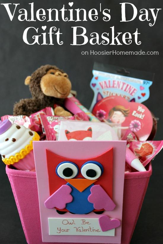 Valentineu0027s Day Kidsu0027 Craft And Gift Basket | Instructions On  HoosierHomemade.com