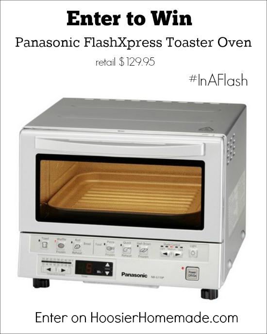 Panasonic FlashXpress Toaster Oven Giveaway on HoosierHomemade.com