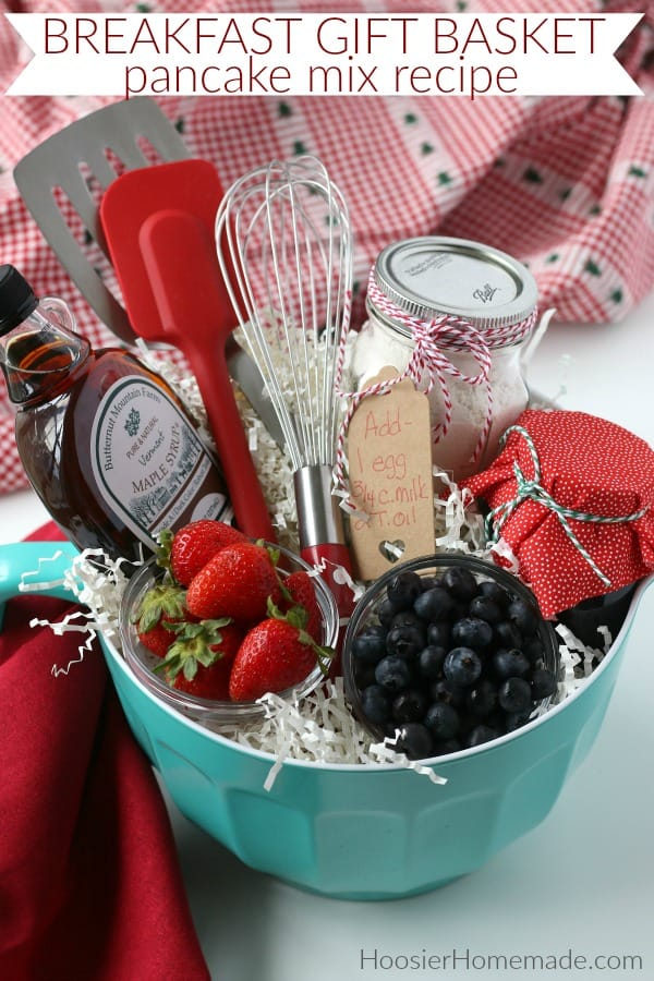Breakfast Gift Basket with Homemade Pancake Mix
