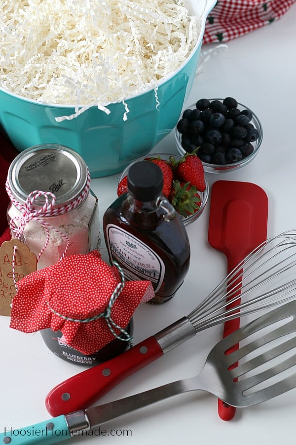 Items for Breakfast Gift Basket