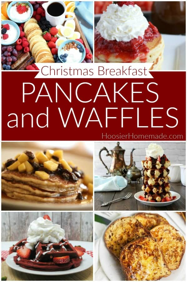 Pancakes and Waffles for Christmas Breakfast
