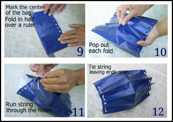 How to make paper bag lanterns hoosier homemade for How to make paper lamp step by step