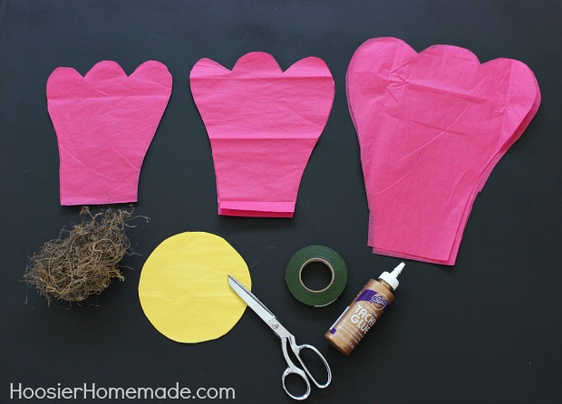 How to make giant tissue paper flowers hoosier homemade now its time to make the flowers mightylinksfo