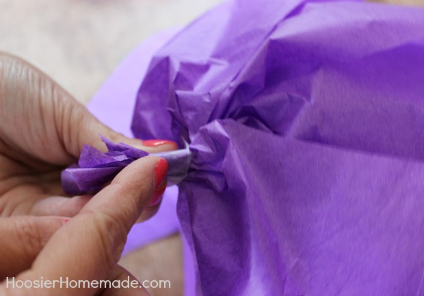 How to make giant tissue paper flowers hoosier homemade and mightylinksfo