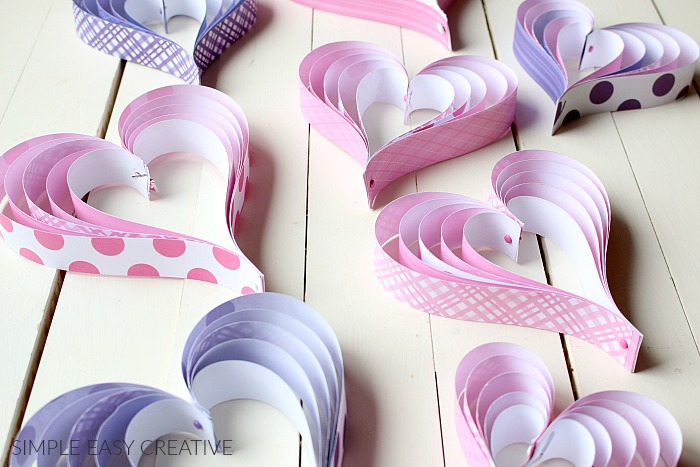 easy to make paper hearts