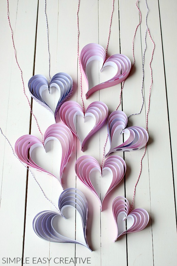 Paper Hearts on Strings