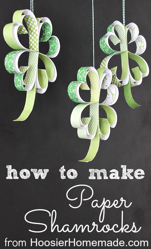 How To Make A Paper Shamrock Garland Hoosier Homemade