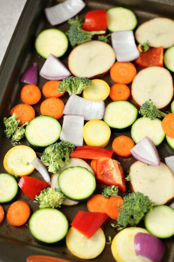 Parmesan Crusted Roasted Vegetables