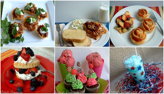 Party Food collage
