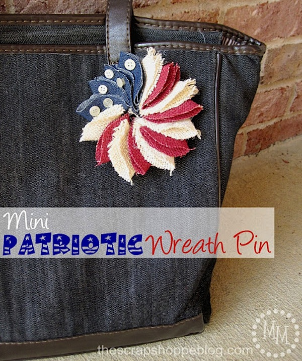 Patriotic Wreath Pin