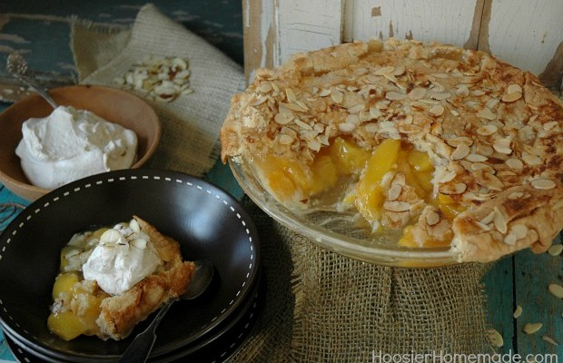 Amaretto Peach Pie Recipe :: HoosierHomemade.com