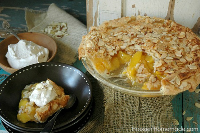 Amaretto Peach Pie