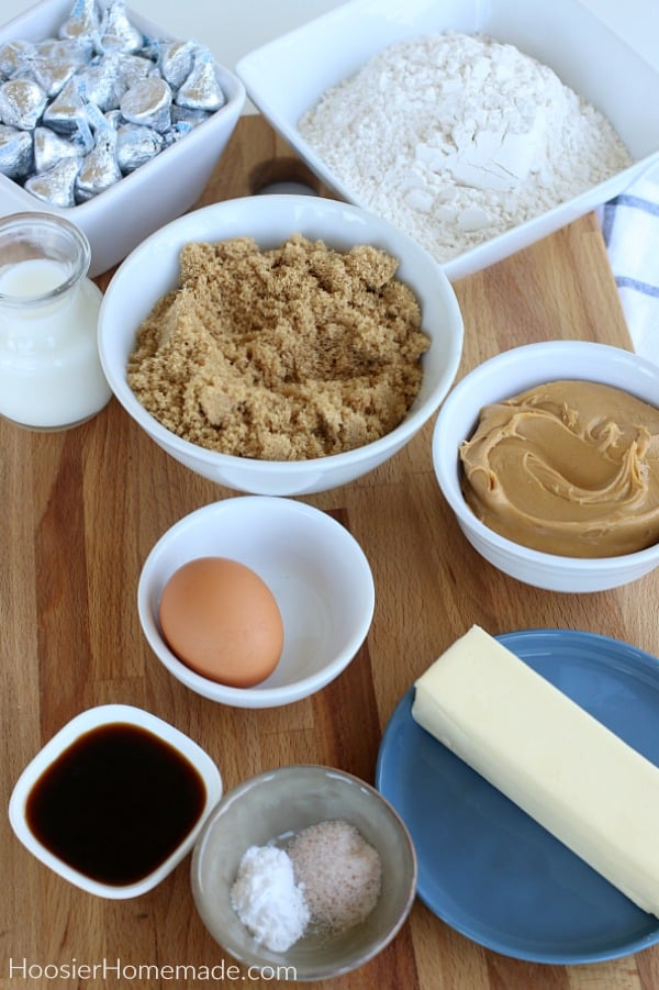 Ingredients to make Peanut Butter Blossoms