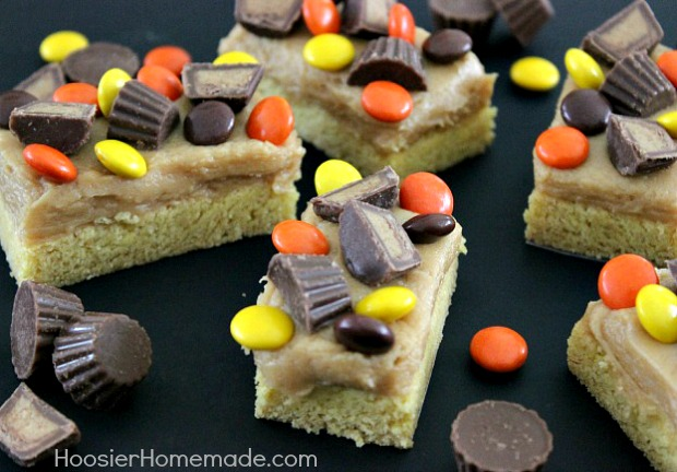 Peanut Butter Cup Bars | Recipe on HoosierHomemade.com