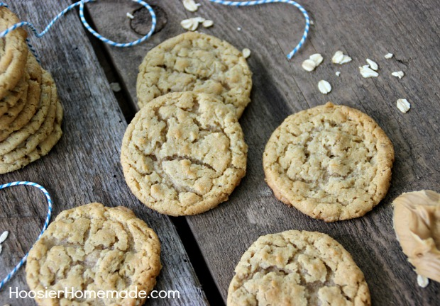 Peanut Butter Oatmeal Cookies | Recipe on HoosierHomemade.com