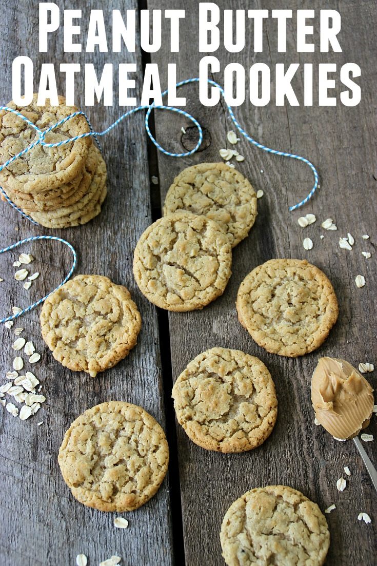 There's nothing better than a soft, warm cookie straight from the oven. Now these aren't your normal, everyday run of the mill Peanut Butter Oatmeal Cookie, they are special! With the mixture of two kinds of oats, peanut butter and nuts, they are extra special!