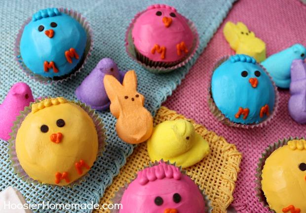 Peeps Cupcakes :: Instructions on HoosierHomemade.com