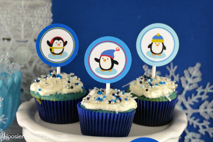 Printable Cupcake Toppers with Penguins