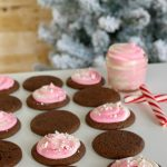 Chocolate Cake Mix Cookies with Peppermint Frosting
