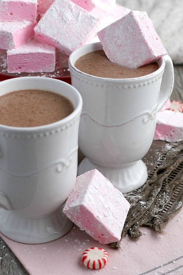 Peppermint Marshmallows with Hot Chocolate