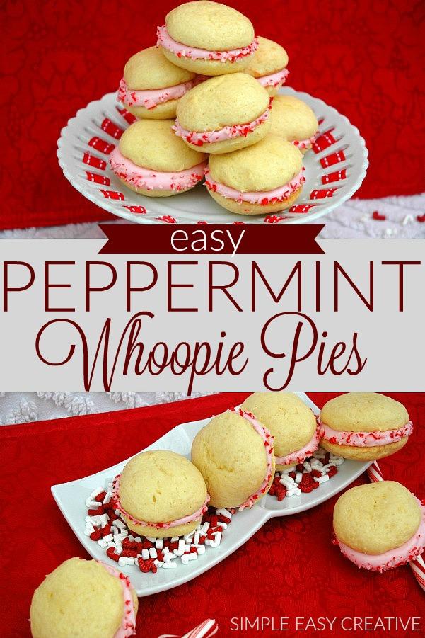 Peppermint Whoopie Pies