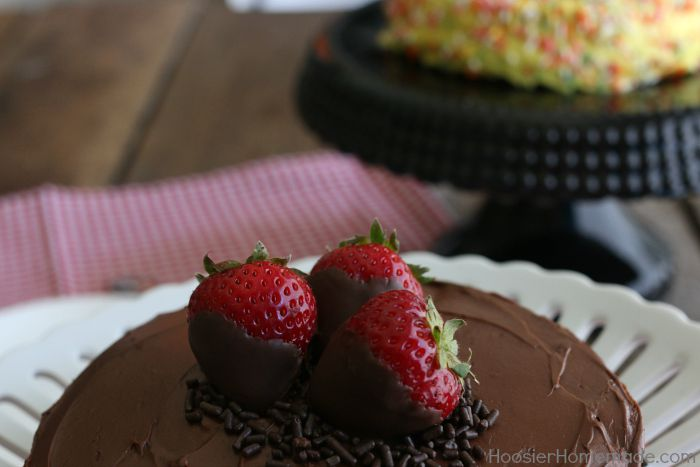 Perfect Size Cake.strawberries