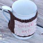 Personalized Mug Warmer: 100 Days of Homemade Holiday Inspiration on HoosierHomemade.com