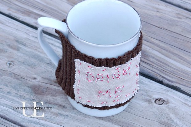 Personalized Mug Warmer: 100 Days of Homemade Holiday Inspiration on HoosierHomemade.com