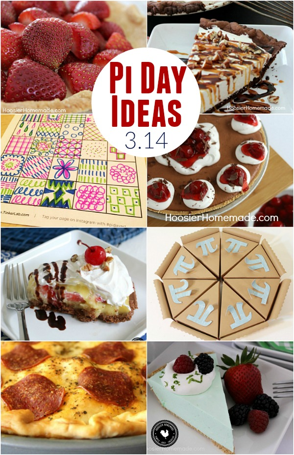 It's time for a little math lesson! Try one of these Pi Day Ideas to celebrate while you learn! Make a pie for dinner, dessert and do a fun activity!