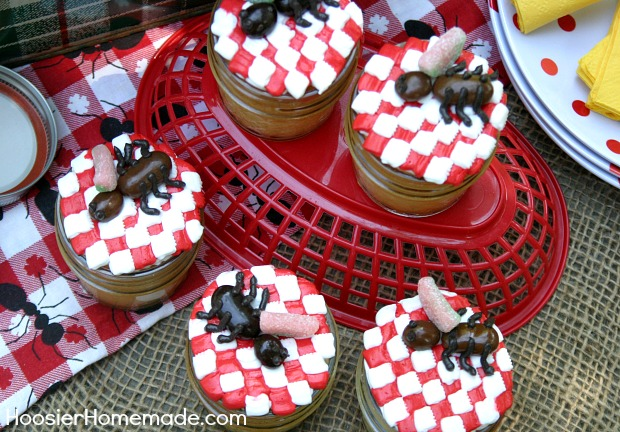 Picnic Ant Cupcakes in Jar | Recipe on HoosierHomemade.com