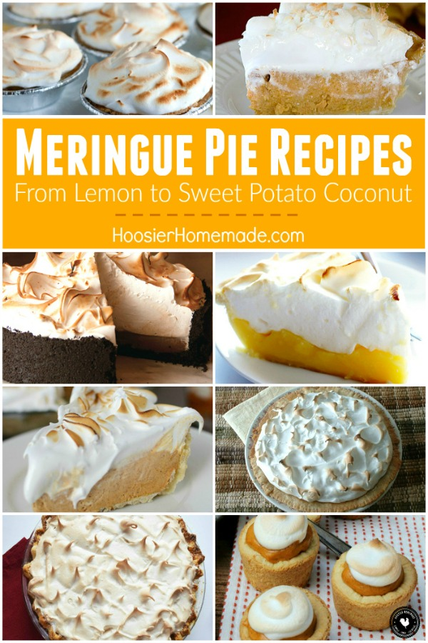 Meringue Pie Recipes - perfect for Thanksgiving and the holidays! From Chocolate to Pumpkin to Lemon and even HOW to make Meringue! We have you covered!