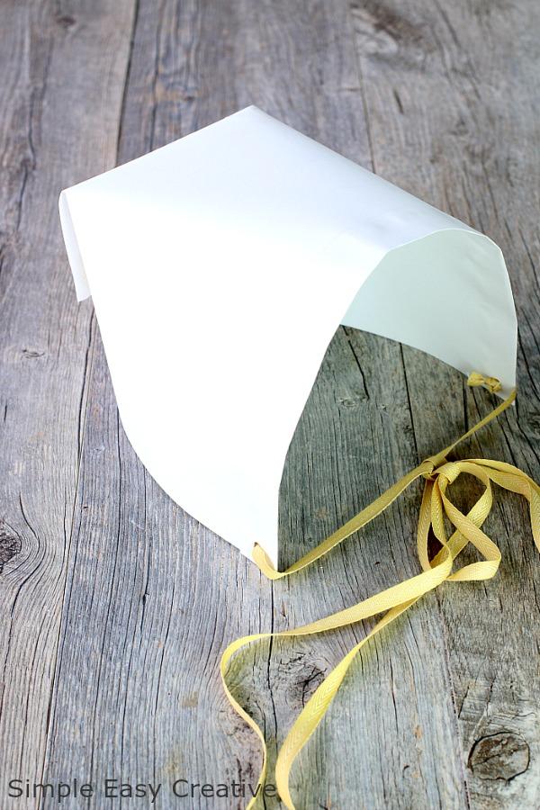 HOW TO MAKE PILGRIM HATS - BONNET