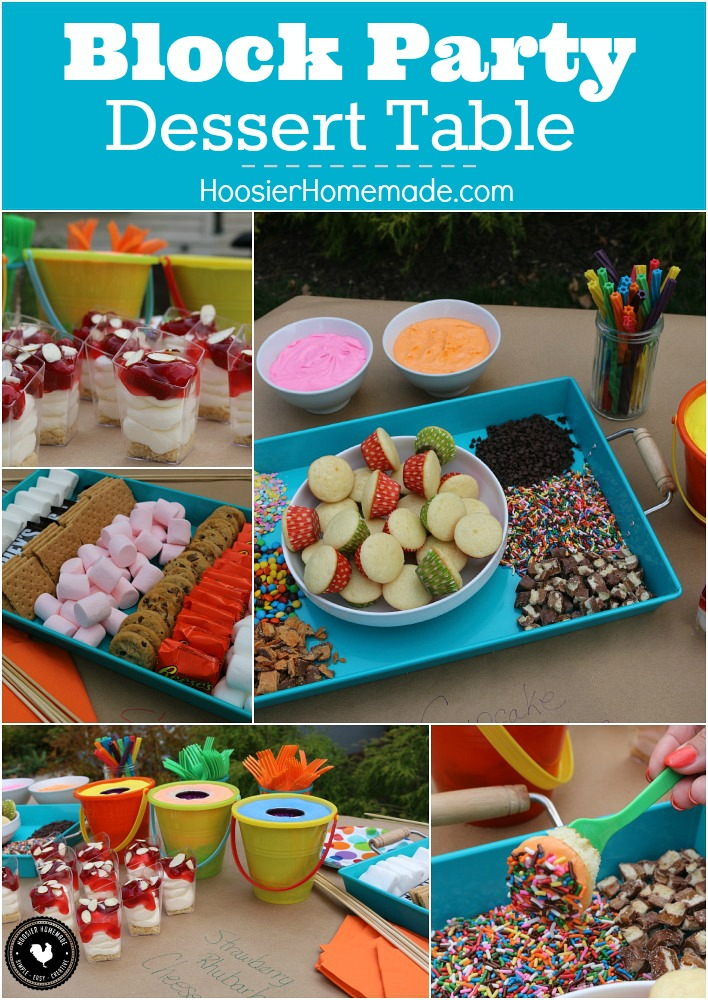 Party Desert Recipes: Block Party Dessert Table