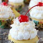 Pina Colada Cupcakes from a Cake Mix
