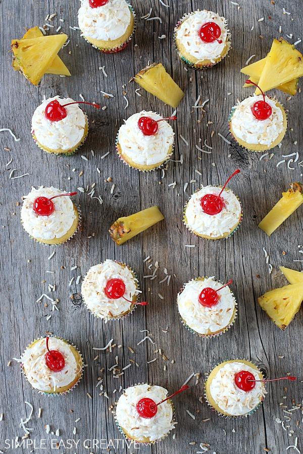 How to make EASY Pina Colada Cupcakes