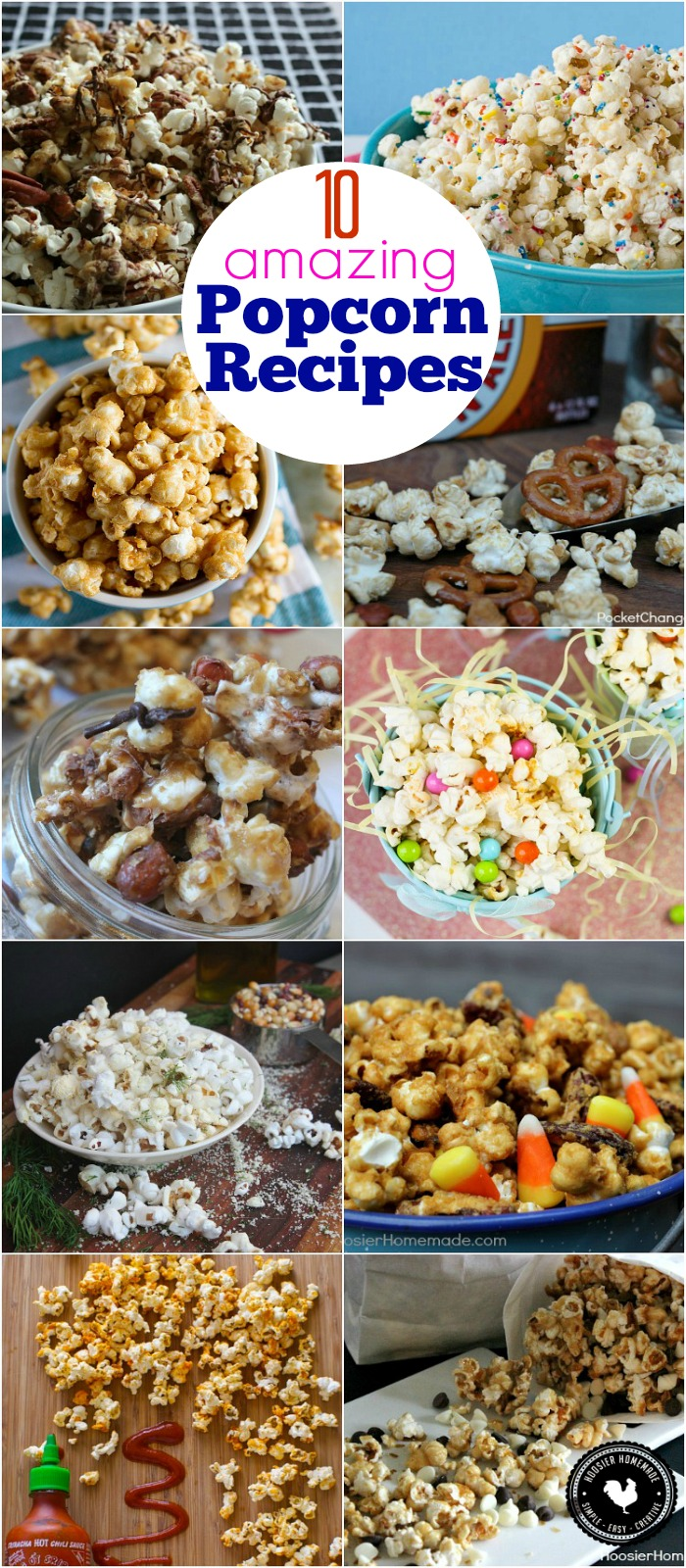 Who doesn't LOVE popcorn? It's the perfect snack any time of day! These 10 amazing Popcorn Recipes are sure to please even the pickiest snacker! Be sure to save the recipes by pinning to your Recipe Board!