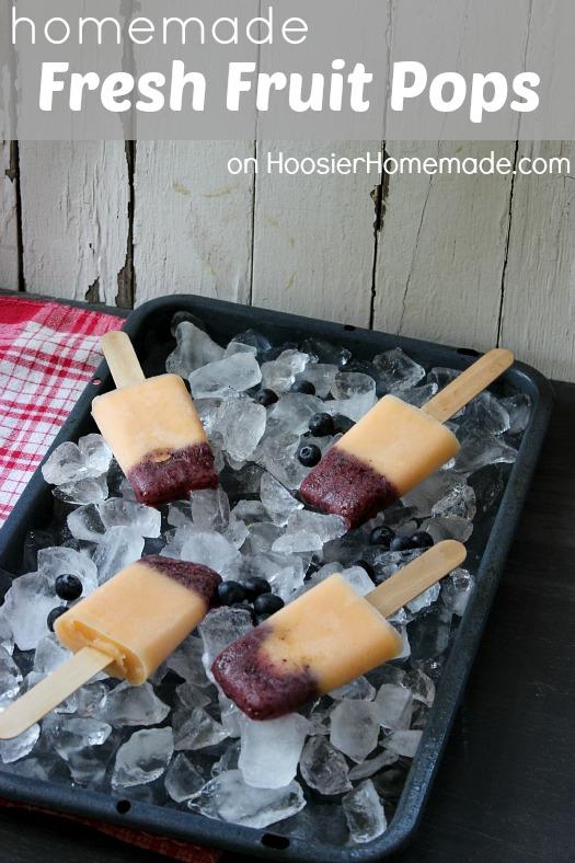 Homemade Fresh Fruit Popsicles :: Recipe on HoosierHomemade.com