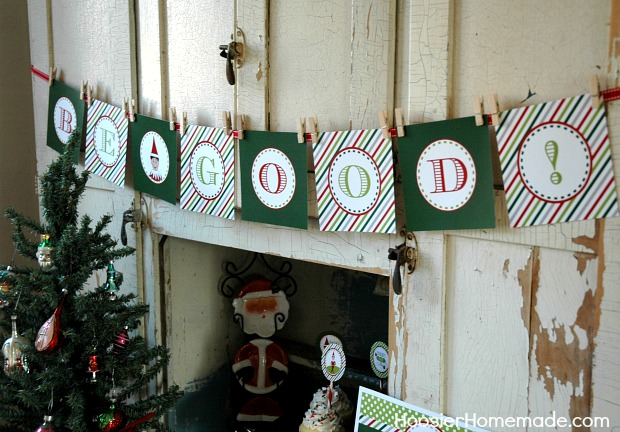 Elf on the Shelf Printable Banner
