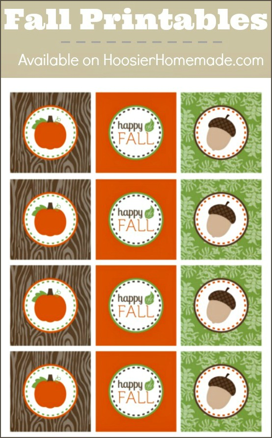 Printable Fall Cupcake Toppers | Available on HoosierHomemade.com