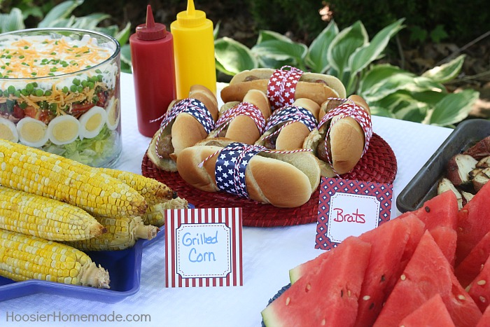 Tented Cards for Memorial Day BBQ Party