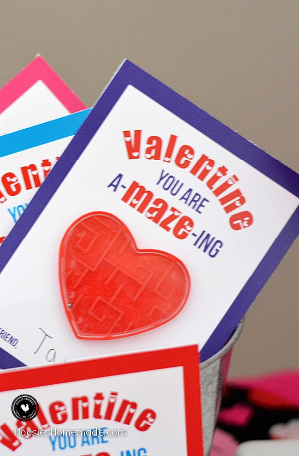 Valentine's Day Cards to Print - these fun printable cards are perfect for Valentine's Day Classroom Parties! You are A-MAZE-ing! And they are FREE! Grab yours NOW!