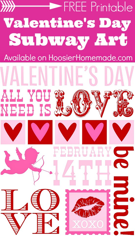 Printable Valentine's Day Subway Art on HoosierHomemade.com