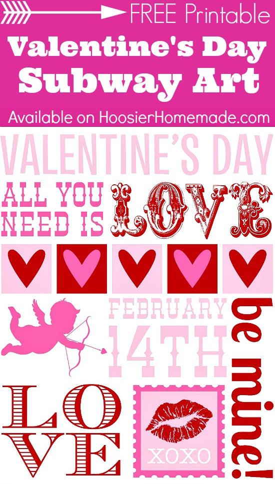 Printable Valentine's Day Subway Art on HoosierHomemade.com
