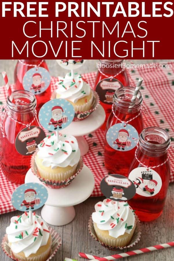 Printables for Christmas Movie Night