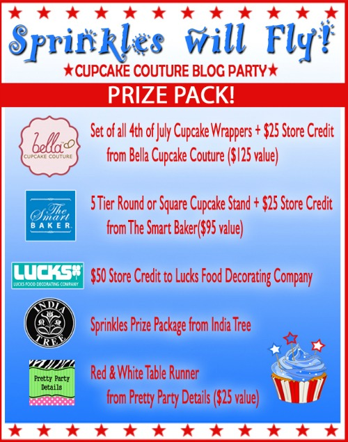 Sprinkles will Fly: Cupcake Couture Party Giveaway:: HoosierHomemade.com