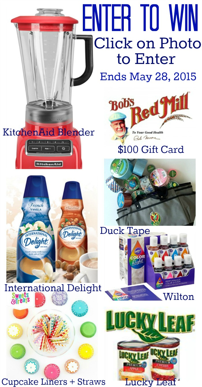 Join us on Wed. May 27th, at 9 p.m EST to celebrate Summer and win prizes too! Prizes from KitchenAid, $100 Gift Card from Bob's Red Mill, Wilton, Duck Tape, Sweets & Treats Boutique, Lucky Leaf, and International Delight. Find us on the Creative Home Pinterest Party Board!