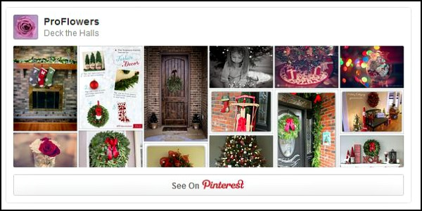 ProFlowers Pinterest Board