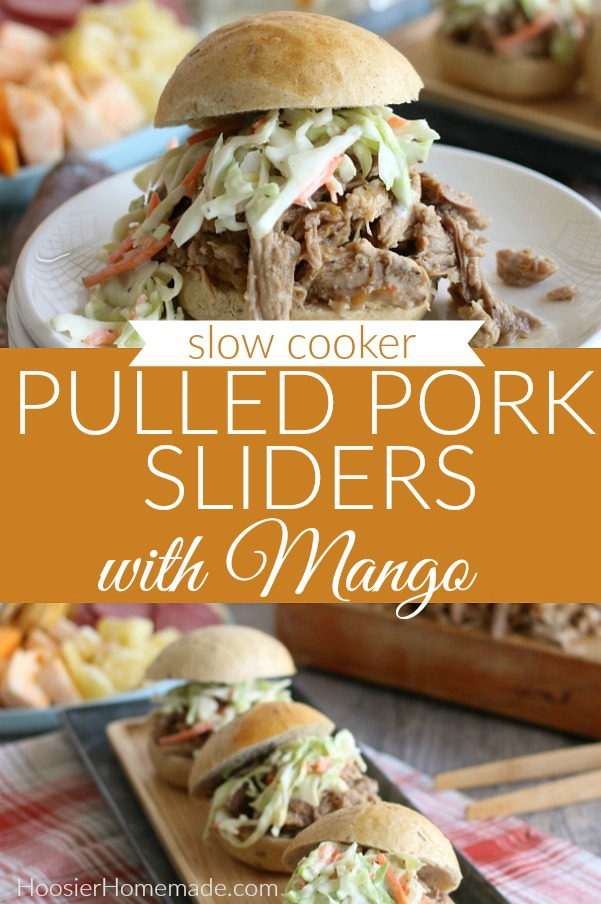 Pulled Pork Sliders with Mango